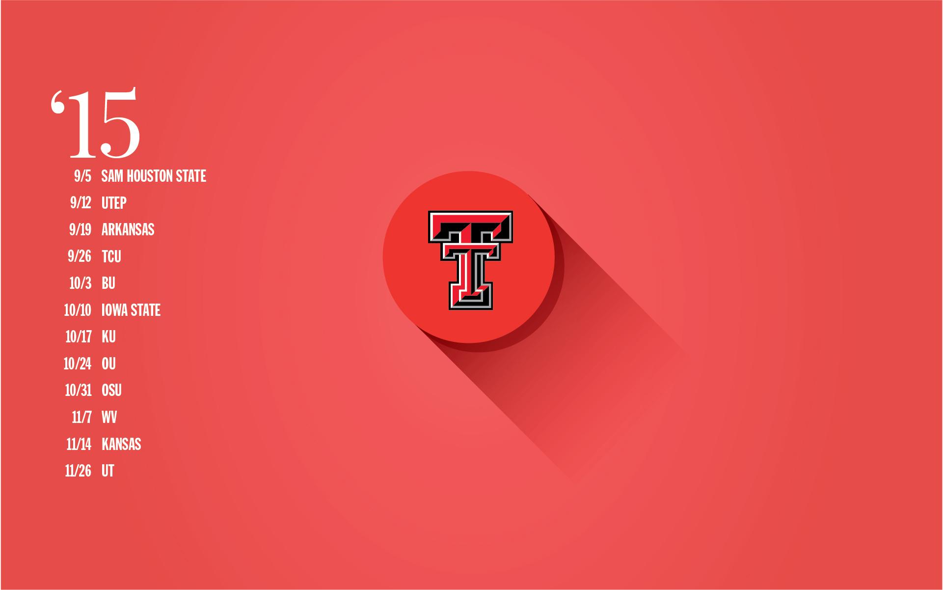 Free Texas Tech Football Schedule Wallpaper - RDT