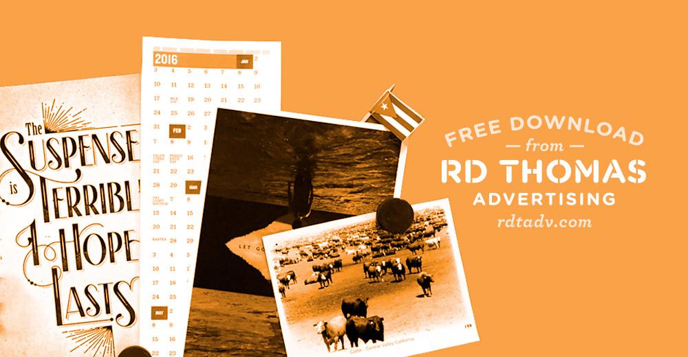 Free Printable Calendar: 20 Sweet 16!