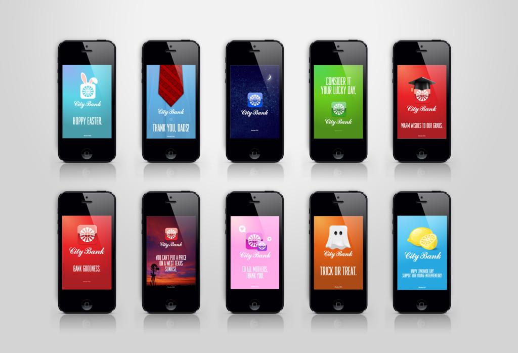 RD Thomas City Bank Mobile App Ads