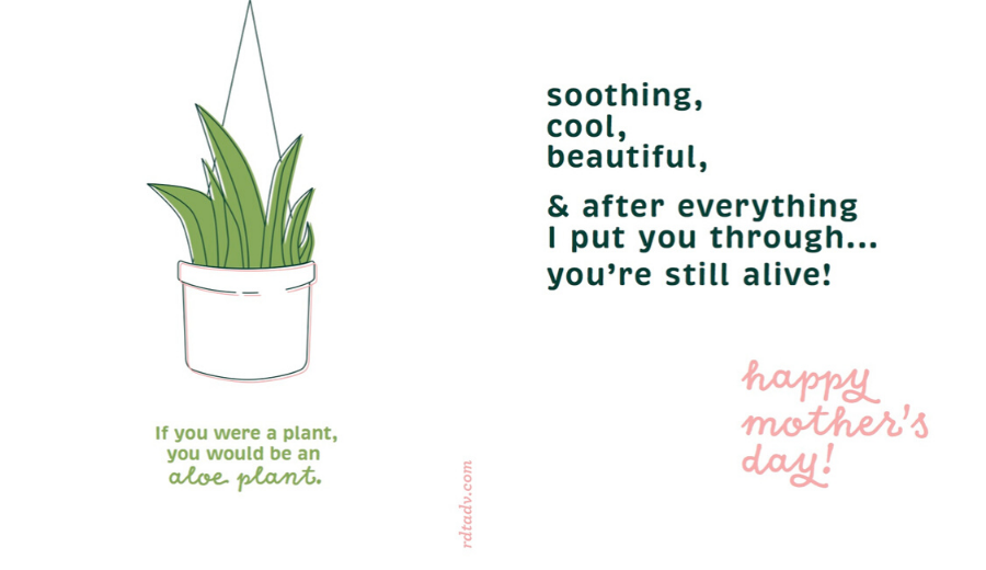 Plant Lover Mother's Day Card Preview Image