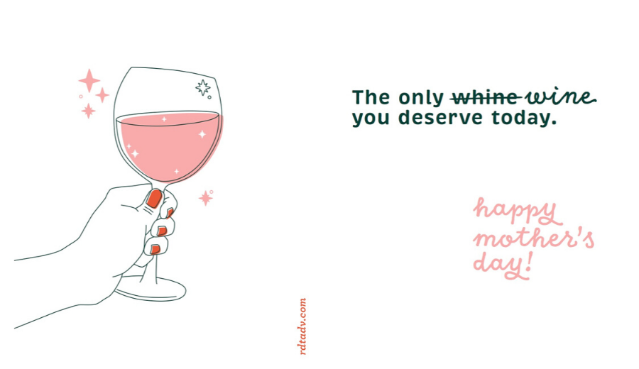 Wine Lover Mother's Day Card Preview Image